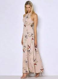 maxi dress halter neck floral print maxi dress azbro