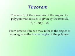 Formula For Interior Angles Of A Polygon 7 3 Formulas Involving Polygons Ppt Download
