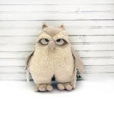 best burlap owl products on wanelo