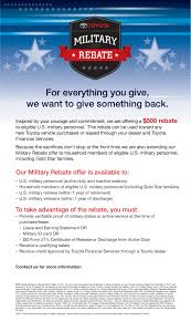 toyota financial services toyota vallejo toyota military rebate program
