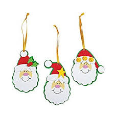 foam simple santa ornament craft kit crafts activity