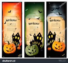 halloween background banner three halloween banners vector stock vector 113212498 shutterstock
