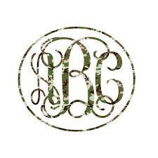 monogram stickers printed interlocking monogram decals stickers select print
