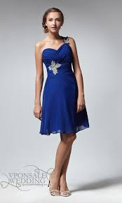 cobalt blue bridesmaid dresses sweetheart blue bridesmaid dress with single dvw0024