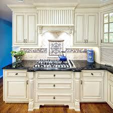 Blue And White Backsplash Tile Interior Blue Tile Kitchen Added By