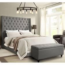 Linen Tufted Sofa by Diamond Sofa Parkavegrckbed Park Avenue California King Tufted Bed