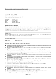 Resume Samples Retail Management by Experienced Resume Sample Informal Proposal Format