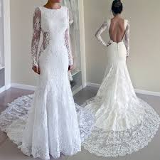 lace wedding dress with sleeves sleeves sweep mermaid lace wedding dress