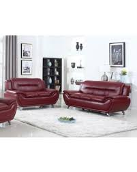 Modern Faux Leather Sofa Deal Alert Ufe Norton Faux Leather Sofa And Loveseat Set