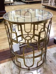 gold metal table home goods retro chapel hill condo pinterest