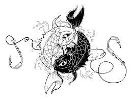 koi fish and yin yang designs