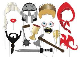 game of thrones inspired photo booth props set 15 piece