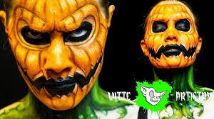 Pumpkin Halloween Costume Jack O Lantern Scary Pumpkin Face Halloween Makeup Tutorial In