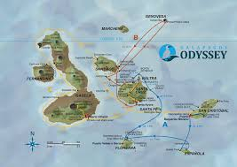 Odyssey Map Galapagos Odyssey Routes Overview