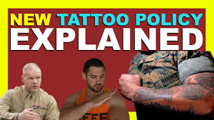 new usmc tattoo policy explained 2016 youtube