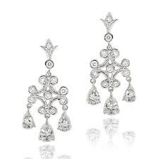 Cubic Zirconia Chandelier Earrings Icz Stonez Rhodiumplated Cubic Zirconia Chandelier Earrings Free