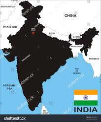 Map Nepal India by India Black Map Boundary Flag Stock Illustration 67666027