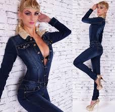 women u0027s denim overalls bib jumpsuit dark blue skinny legs u k