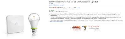 ge link light bulb wink smart home hub and ge link wireless white led light bulb 16