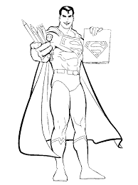 superman drawing symbols coloring pages super hero coloring