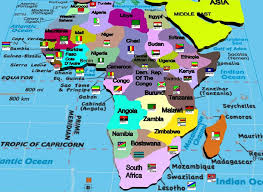 africa map with country names and capitals nations and their capitals map