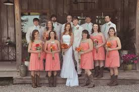 coral knee length bridesmaid dresses with cowboy boots elite