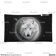 wolf home decor wolf moon cosmetic bag wolf whitewolf fullmoon dreamcatcher