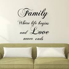 popular wall sayings family buy cheap wall sayings family lots dctop vinyl art wall decals family where life begin sayings sticker bedroom headboard home decor