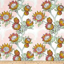 Joel Dewberry Cali Mod Home Decor Sateen Twill Protea Cactus - Discount designer home decor