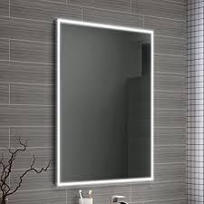Bathroom Demister Mirrors Ibathuk 600 X 800 Mm Designer Illuminated Led Bathroom Mirror