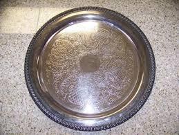 engraved silver platter free vintage engraved leonard silver platter tray antiques