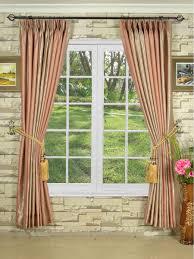 decor copper stipe pinch pleat curtains for pretty home