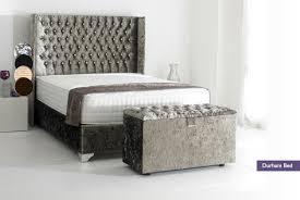 Studded Bed Frame Morny Velvet Bed Furniture Trend