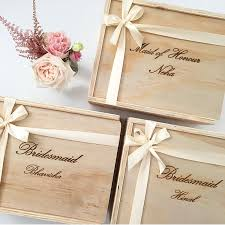 bridesmaid boxes bridesmaid gift box custom engraved the bridal box co bridal