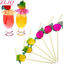 imagenes variadas en 3d zljq 50 o 100 unidades cocktail beber flexible 3d fruta pajitas