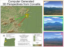 Oregon Elevation Map by Map Portfolio