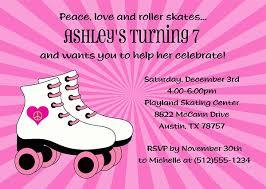 roller skating birthday party invitations roller skating