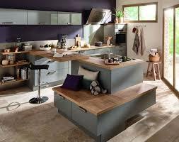 image ilot de cuisine cuisine îlot central 12 photos de cuisinistes côté maison