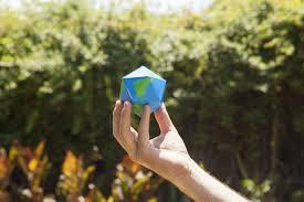 dymaxion folding globe in blue u0026 green design by areaware u2013 burke