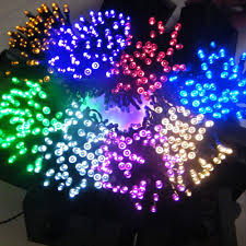 Solar Party Lights 100 Led Indoor Outdoor Wedding Holiday Party Solar Powered String
