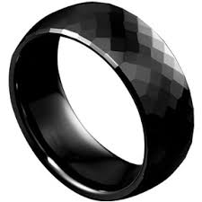 black ring out of gray b tiff black ceramic detail unique modern ring gifts
