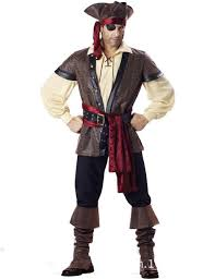 Rogue Halloween Costume Deluxe Men U0027s Pirate Costume Movie Captain Jack Ruthless Rogue