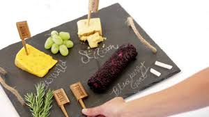 chalkboard cheese plate wooden cheese markers rustic cheese board
