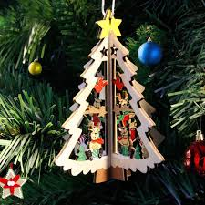 3d wooden ornaments tree tree pendant for