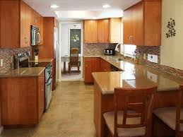 kitchen breakfast bar ideas galley kitchens with breakfast bar deductour com