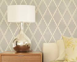 large wall stencil modern harlequin diamond pattern
