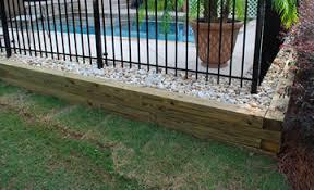 wood retaining walls peachtree city fayetteville ga landscape