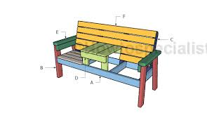 Jack And Jill Chair Plans by Double Chair Bench Plans Howtospecialist How To Build Step By