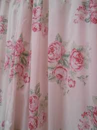 Pink Gingham Shower Curtain Olivia U0027s Romantic Home Shabby Chic Bathroom Vintage Shabby