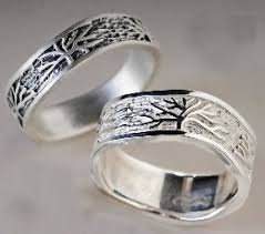silver wedding bands tree rings by connie ulrich silver wedding band artful home